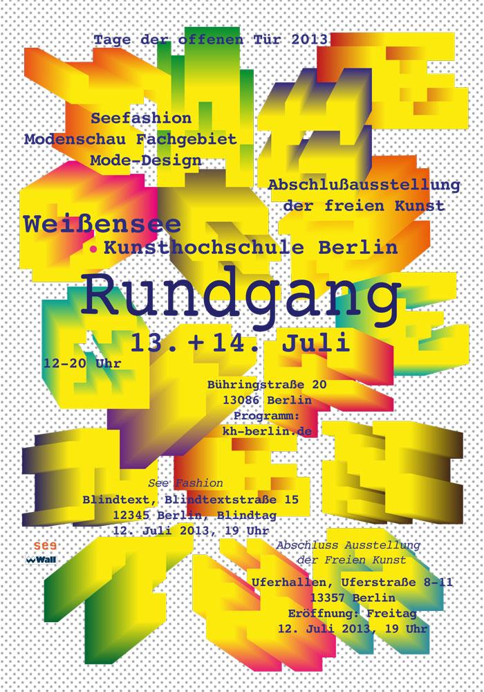 Studio Kat Rahmani Open Gallery Day (Rundgang) Academy of Art Berlin Weißensee